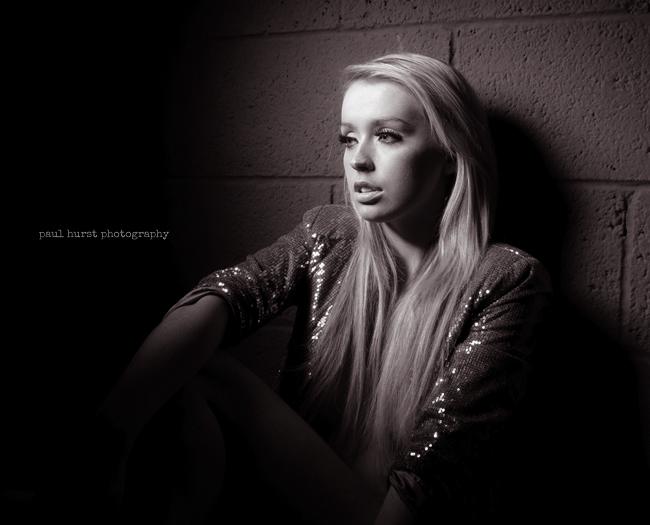Paul Hurst Photography Studio Portrait  Fashion Model Leicester Black White